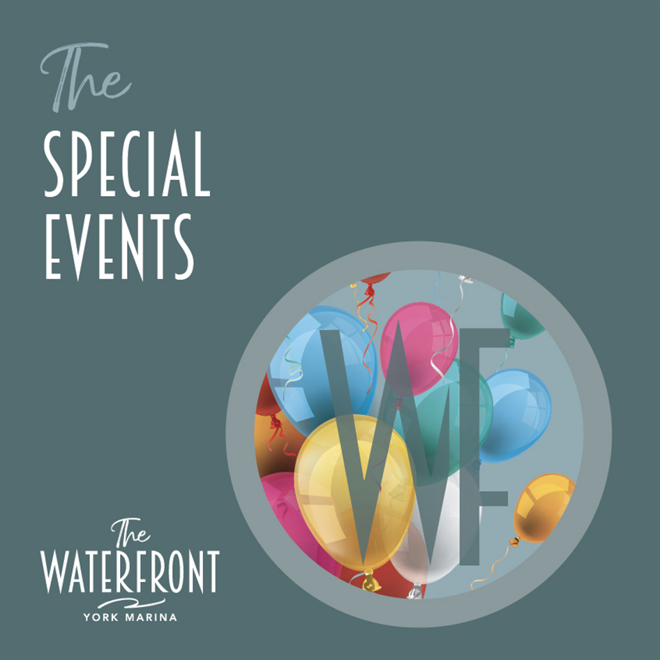 Special Events Brochure at The Waterfront Cafe at York Marina